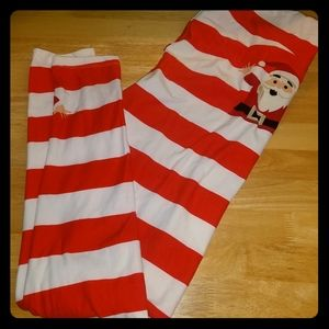 Lularoe TC Tall & Curvy christmas santa leggings